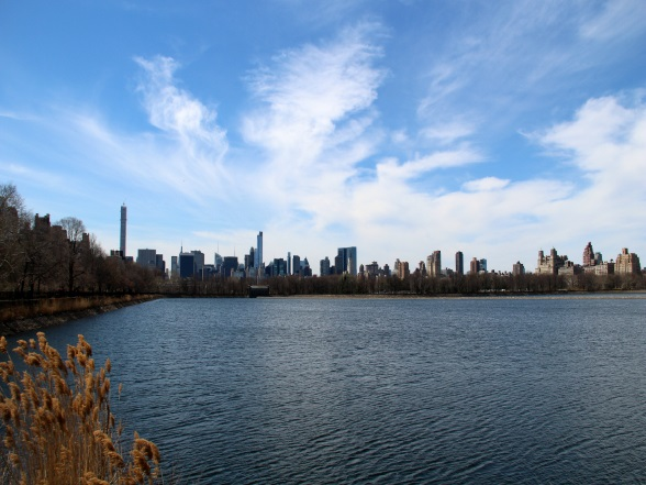Het Jacqueline Onassis reservoir in Central Park in New York
