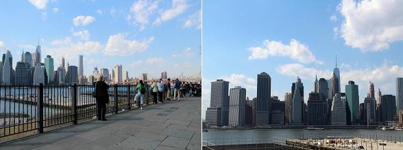 De Brooklyn Heights Promenade biedt een mooi uitzicht op de skyline van New York