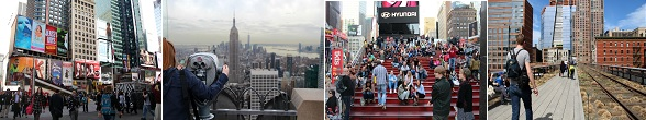 Things to do in New York: Times Square, Top of the Rock, High Line Park