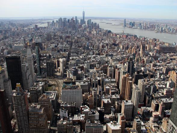 Het uitzicht over New York vanaf het Empire State Building