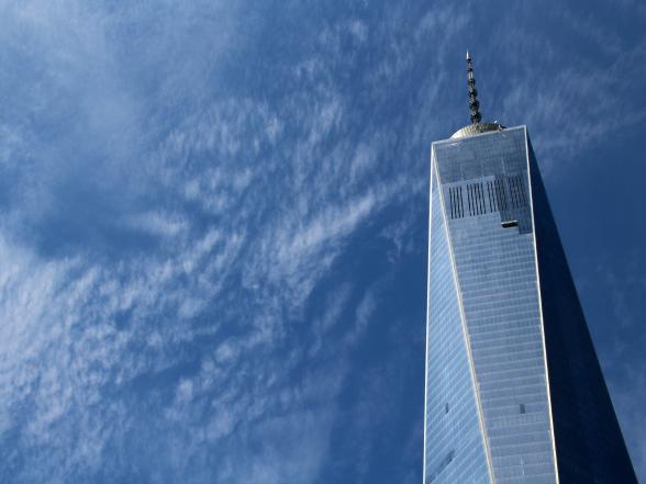 Het One World Trade Center, ook wel de Freedom Tower genoemd, is met zijn 541 meter het hoogste gebouw van het Amerikaanse continent