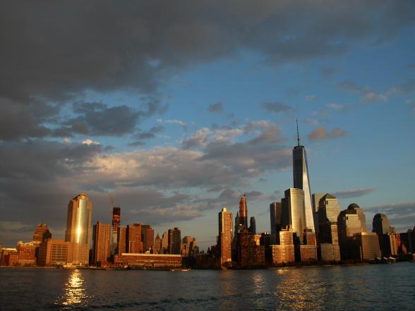 Vanaf het water heb je fantastisch zicht op de skyline van New York