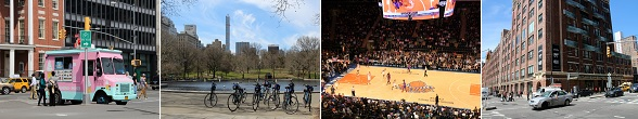 Bezienswaardigheden New York: food truck, New York Knicks, Central Park, Chelsea Market