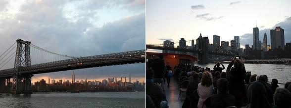 In New York maakte ik een boottocht bij zonsondergang