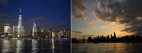 Ik bewonderde de skyline van New York tijdens een sunset cruise. Onvergetelijk!