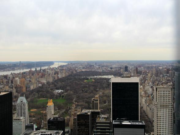 Overdag heb je vanaf Top of the Rock goed zicht op Central Park