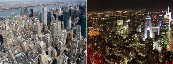 Vanaf het Empire State Building heb je een mooi uitzicht op de skyline van New York