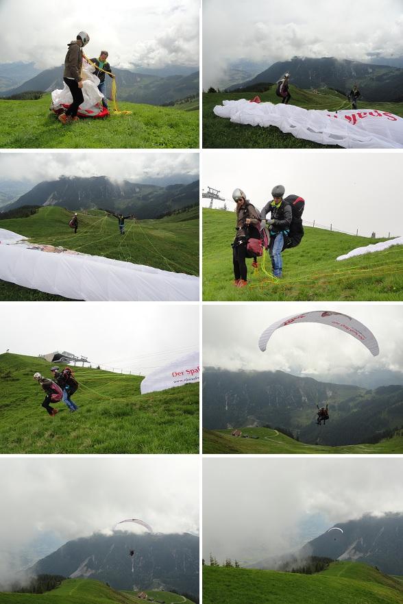 paragliden start