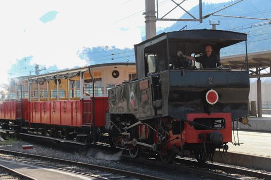 Een treinritje met een behoorlijk stijgingspercentage