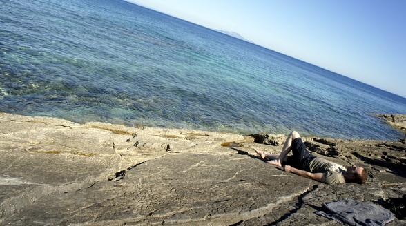 Het kristalheldere water van de Adriatische zee.
