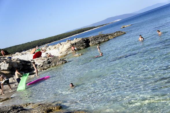 Istrië wordt onderverdeeld in de groene regio en de blauwe regio