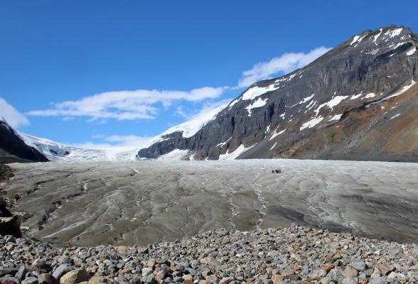 De machtige Athabasca Glacier
