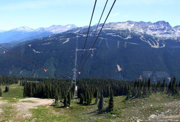 De Peak 2 Peak gondola in Whistler, Canada