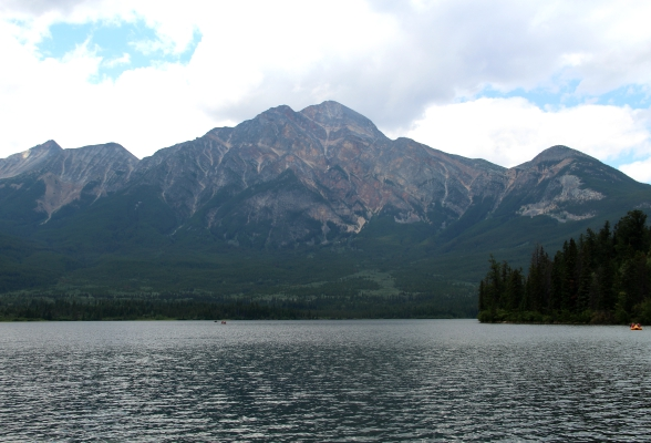 Pyramid Lake in Jasper, Canada