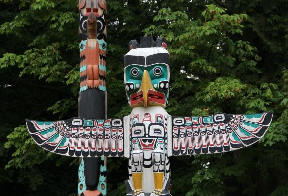 Totempalen in Stanley Park in Vancouver