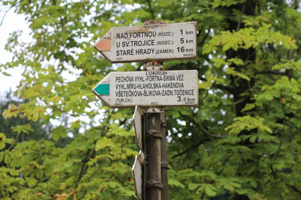 Overal is voorzien in een duidelijk route aanduiding