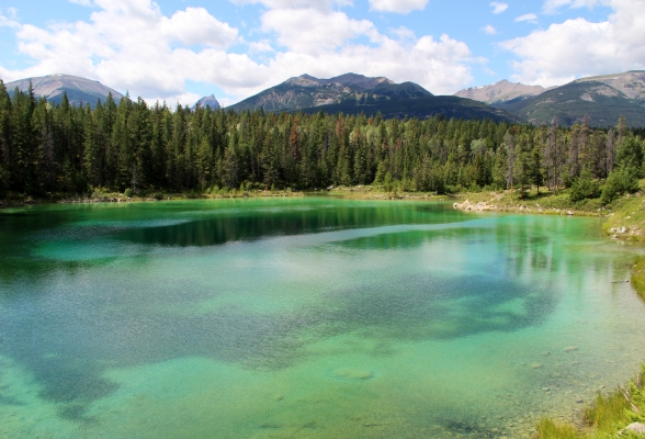 Valley of the Five Lakes in Jasper, Canada