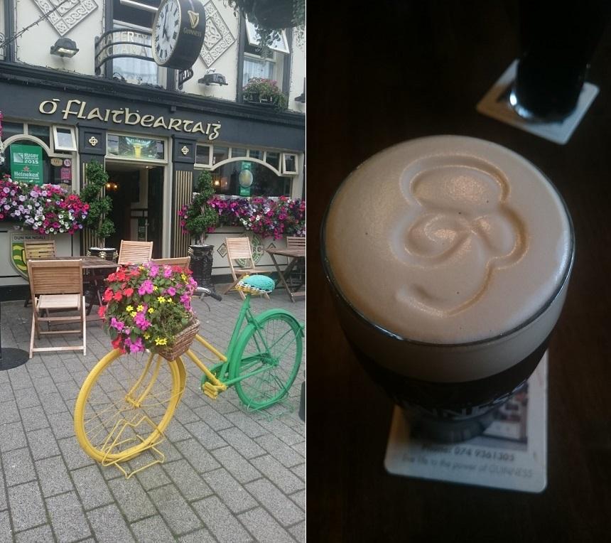 Een echte Irish Pub met Ierlands zwarte goud