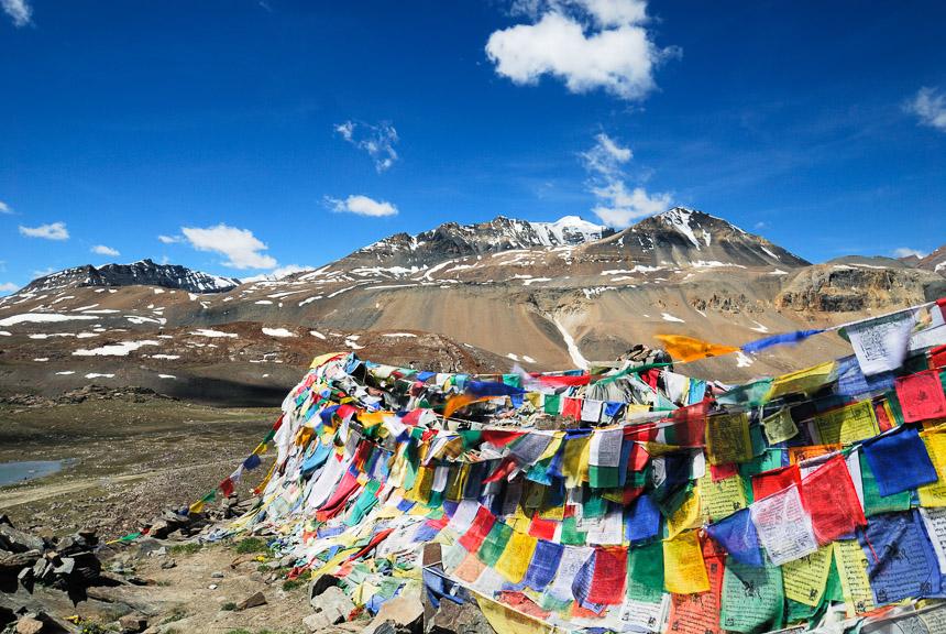 Gebedsvlaggen in Ladakh