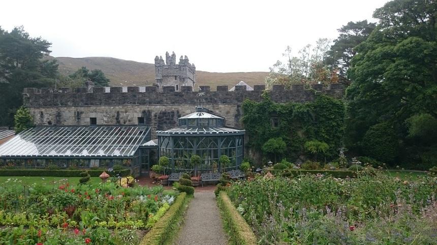 Een van de tuinen bij Glenveagh castle