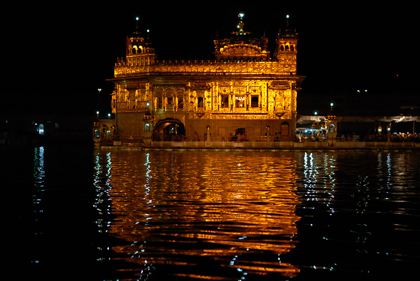 De gouden tempel in Amritsar