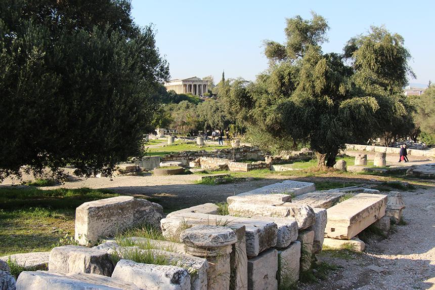 De tempel van Hephaistos is een van de best bewaarde tempels