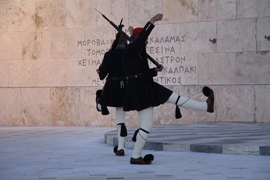 Wisseling van de wacht bij het Grieks Parlement