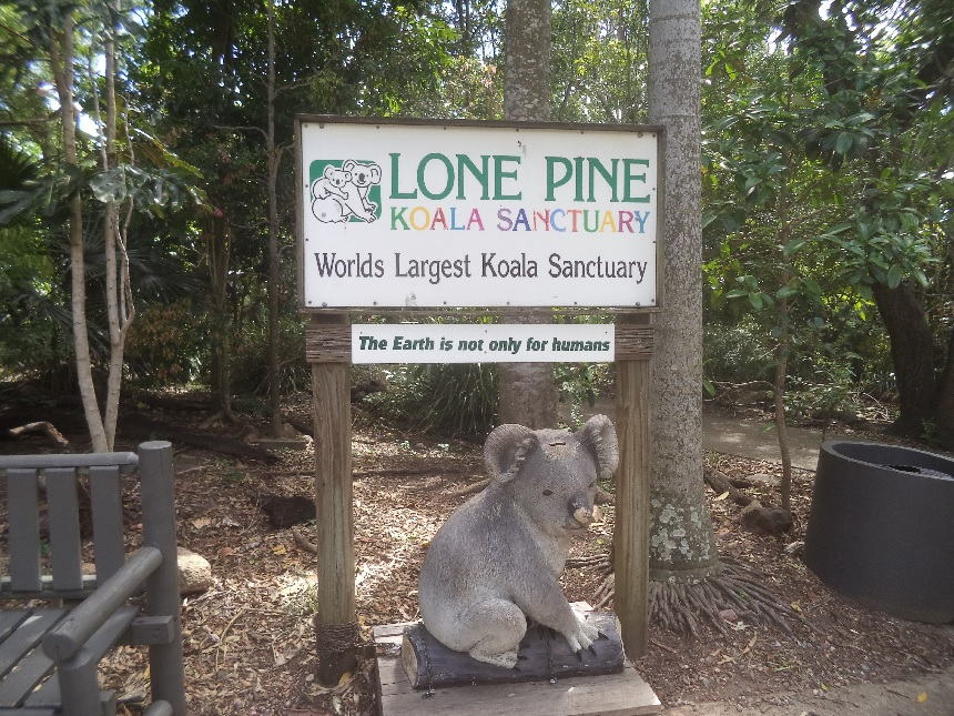 Entree bij het Lone Pine koala sanctuary