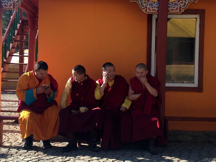 Monniken in Mongolie