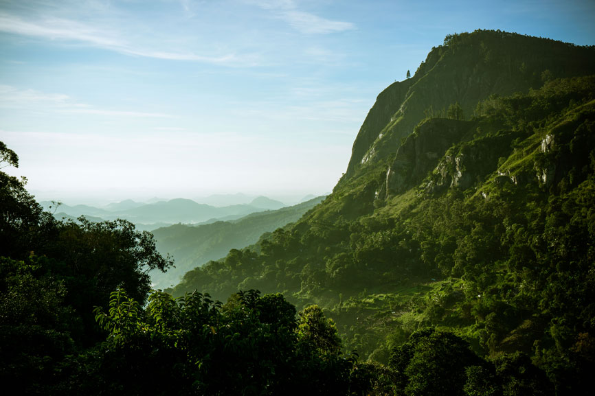 het uitzicht vanaf Ella's Rock