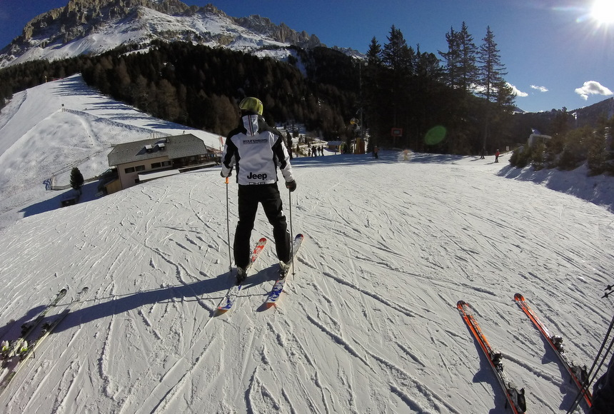 Volg de skileraar.