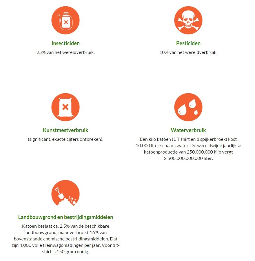 Infographic katoen kleding