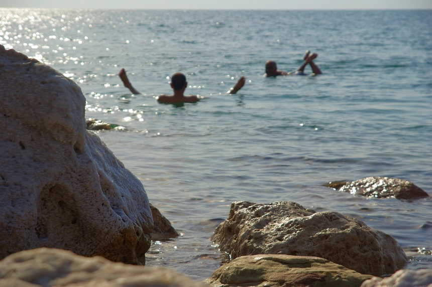 Ik kom tot leven... in de Dode Zee!