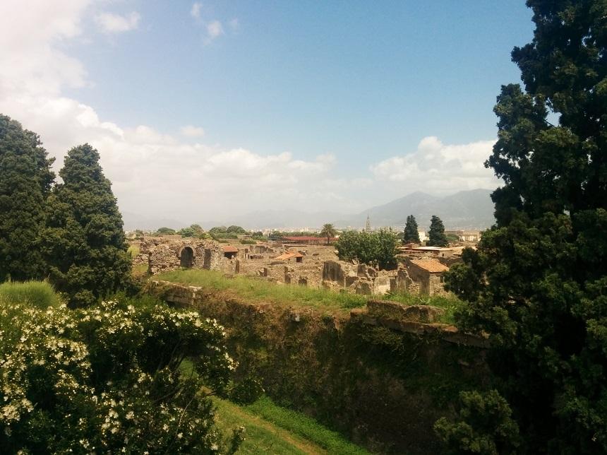 Uitzicht over Pompeii
