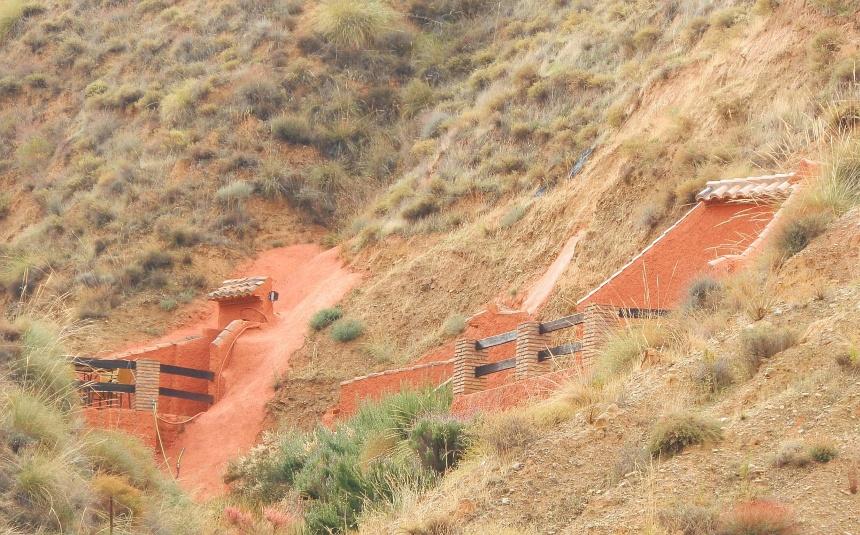 De nog altijd bewoonde grotwoningen in Guadix.