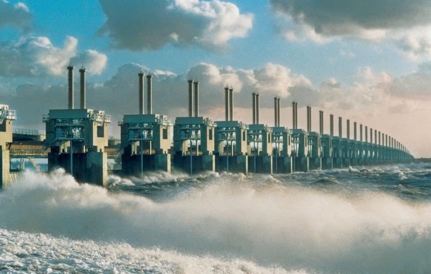 Deltawerken: stormvloedkering Neeltje Jans