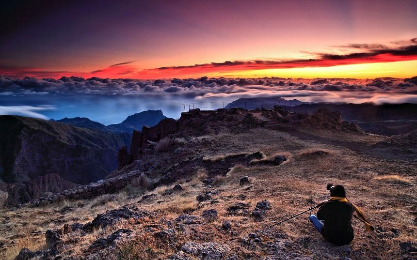 Uitzicht op Pico do Arieiro, de hoogste berg op Madeira