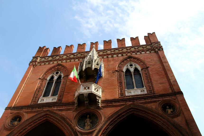 Italiaanse palazzo's in Bologna