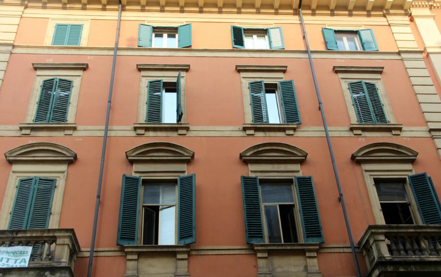 Architectuur in het Italiaanse Bologna