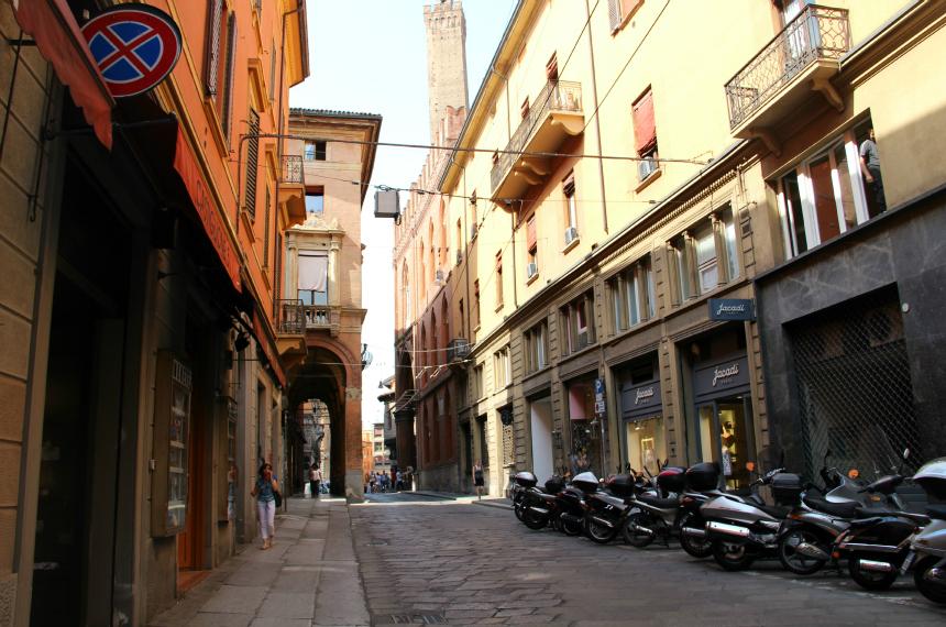 Pittoreske straatjes in Bologna