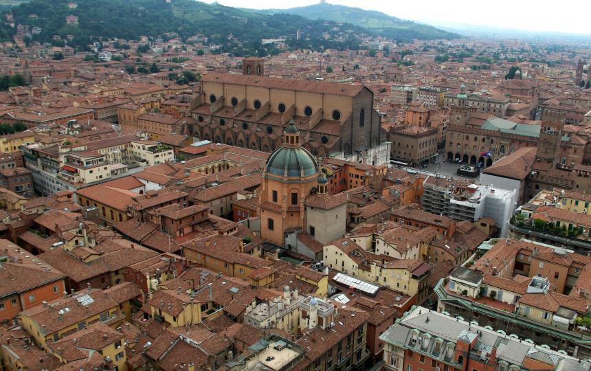 Bologna wordt ook wel 'de rode stad' genoemd