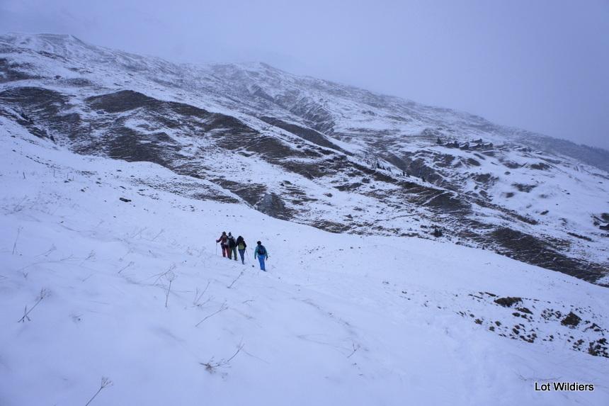 Wandelen in de sneeuw, zelfs al is het maar een beetje sneeuw, is een iets apart.