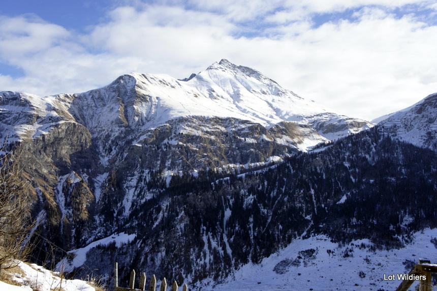 Zelfs met maar een dun laagje sneeuw is het landschap adembenemend.