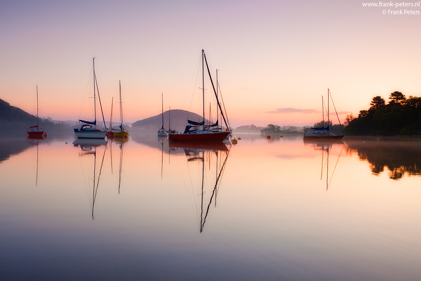 Boten en Reflectie, Ullswater, Lake District, Engeland, Frank Peters