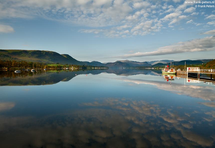 Reflecties, Ullswater, Lake District, Engeland, Frank Peters