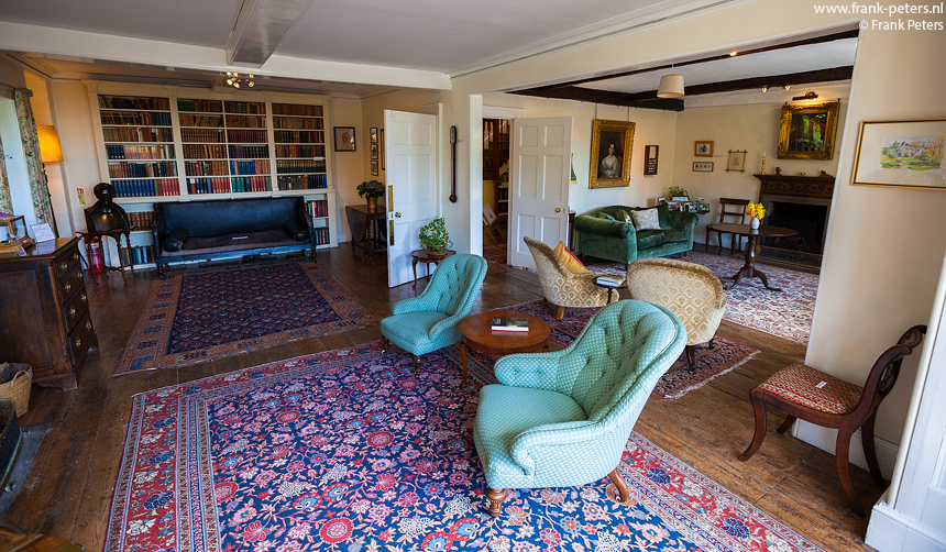 Wordsworth's Interieur, Rydal Mount, Lake District, Engeland, Frank Peters