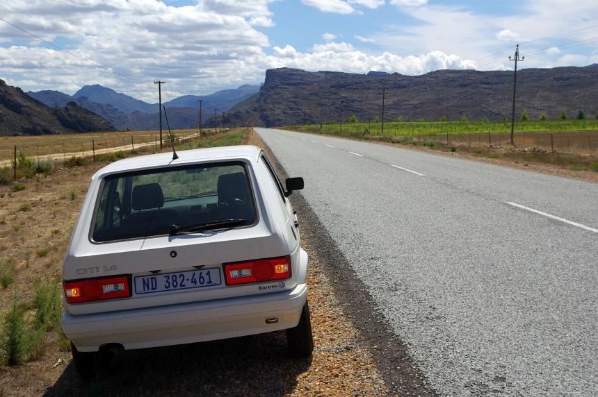 Terug naar Kaapstad met mijn VW Golf.