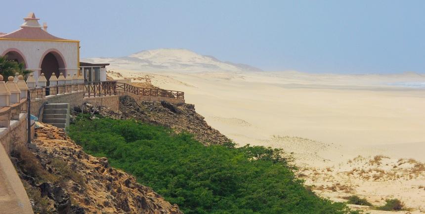 Het eiland Boa Vista in Kaapverdië. Stukje Sahara in de oceaan.