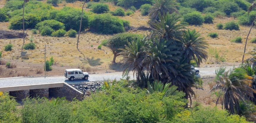 Boa Vista is droog, maar ook groen. Wegen zijn schaars.