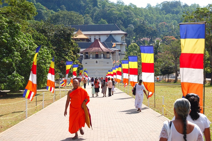 """""""The Temple Of The Tooth"""" in Kandy."""
